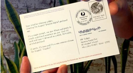 Australia Post Postcards App Research Resources Content