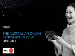 Australian Online Landscape Review - June 2014