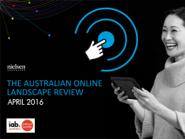 Australian Online Landscape Review: Interactive - April 2016