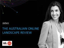 Australia Online Landscape Review - Oct. 2016
