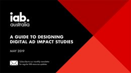 A Guide to Designing Digital Ad Impact Studies - May 2019