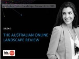 Australian Online Landscape Review - Jan. 2018