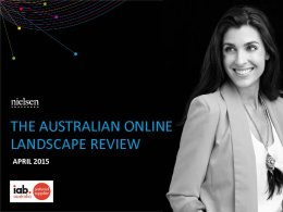 Australian Online Landscape Review - April 2015