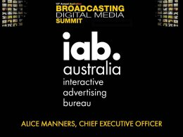Broadcasting Digital Media Summit - Presentation Slides