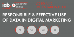 Responsible & Effective use of Data in Digital Marketing - Video and Deck