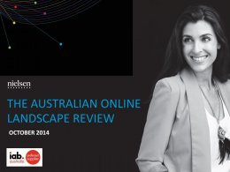 Nielsen Online Landscape Review - October 2014