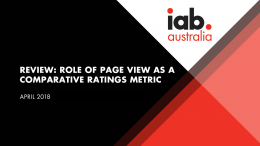 Role of page view as a comparative ratings metric