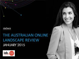 Australian Online Landscape review - January 2015