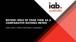 Role of page view as a comparative ratings metric - Open for Public Comment