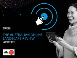 The Australian Online Landscape Review: Interactive and PDF - Aug. 2015