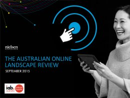 Australian Online Landscape Review: Interactive and PDF - Sept. 2015