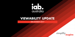 IAB Viewability Update - Dec. 2017