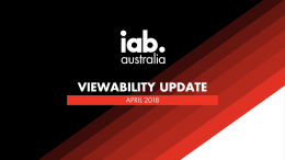 IAB Viewability Update - Apr. 2018
