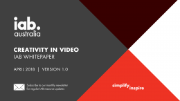 Creativity in Video Whitepaper - April 2018