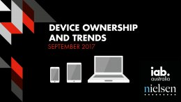 Device Ownership and Trends - September 2017