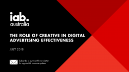 The Role of Creative in Digital Advertising Effectiveness – July 2018