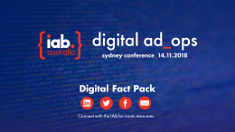 Ad Ops Sydney 2018: Digital Fact Pack
