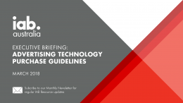 Advertising Technology Purchase Guidelines - March 2018