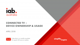 Connected TV: Device Ownership & Usage - April 2018