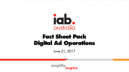 Digital Fact Sheet Pack for Digital Ad Operations Conference