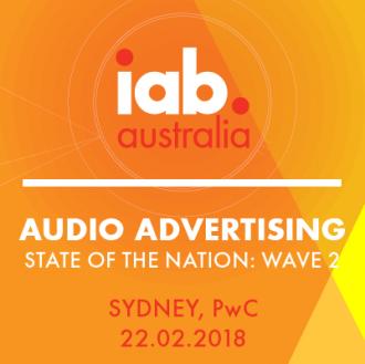 Hold the date - IAB Audio Advertising: State of The Nation Event - Sydney