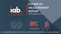 IAB Future of Measurement Report - Sept. 2019