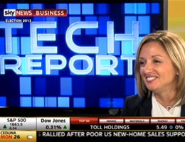 IAB's CEO, Alice Manners appearing on Sky News' Tech Report.