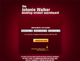 Johnnie Walker Widget | 2009 IAB Awards Winner
