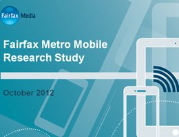 Fairfax Metro Mobile Research Study - October 2012