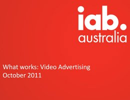 IAB Event: What Works - Video Advertising Presentation