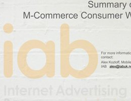 IAB UK: M-Commerce Consumer Wave