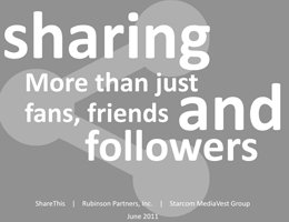 ShareThis: Sharing More Than Just Fans, Friends and Follwers