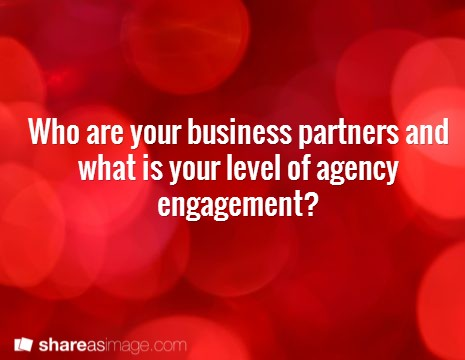 Building Digital Capability – Part 2, Business Partners – level of agency engagement